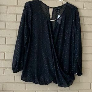 LANE BRYANT CROSS OVER TUNIC, SIZE 18/20 NWT
